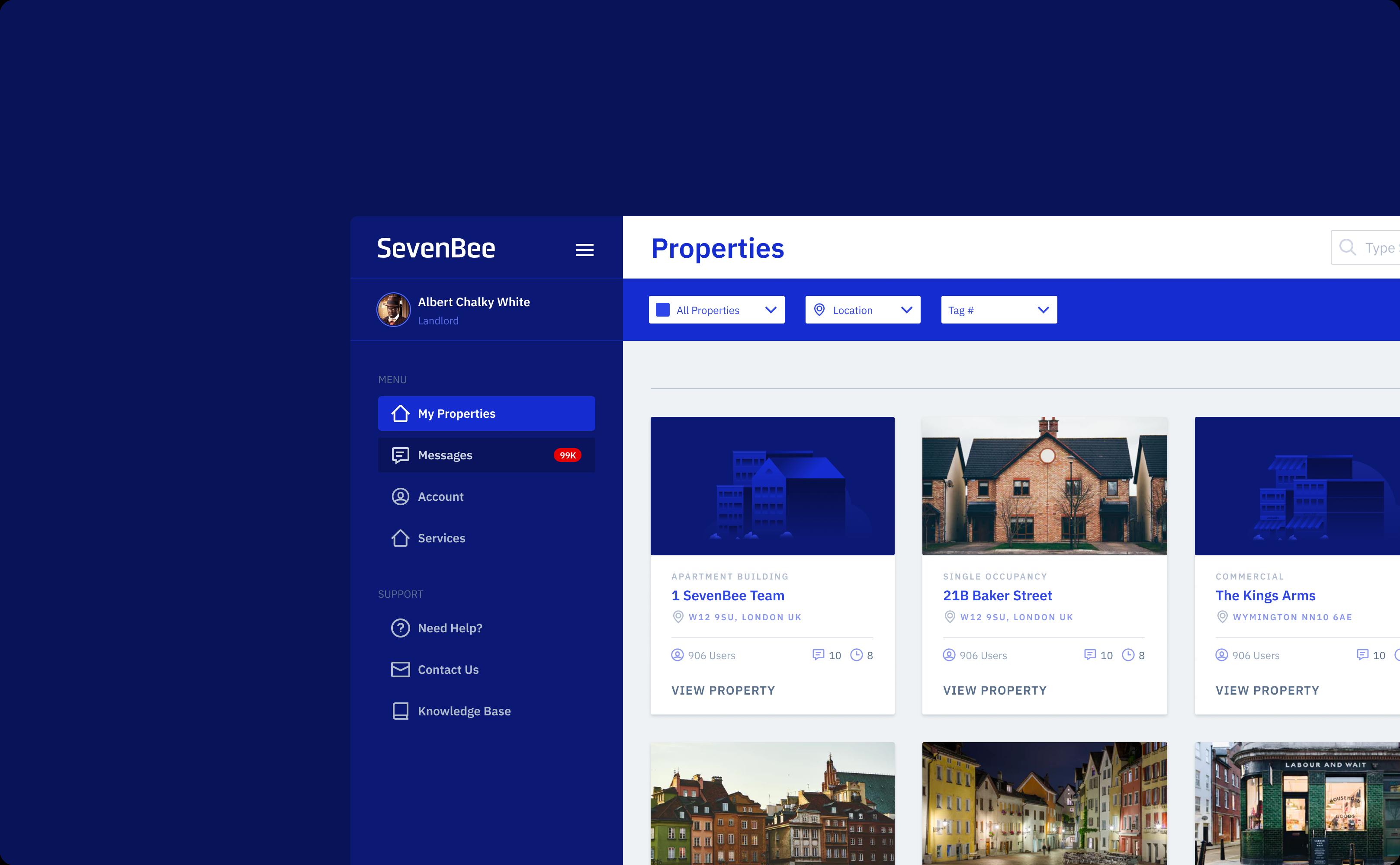 Sevenbee Web App